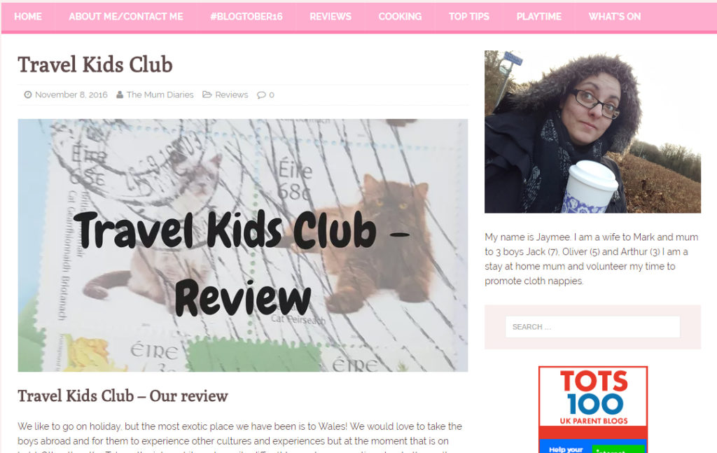 Mum Diaries Travel Kids Club Review