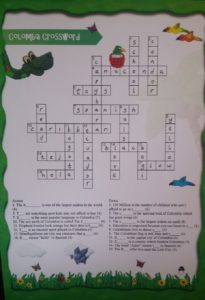 Colombia Crossword and Word Search Solutions!