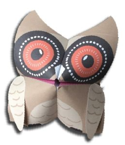Kids Activities: Make a paper owl puppet