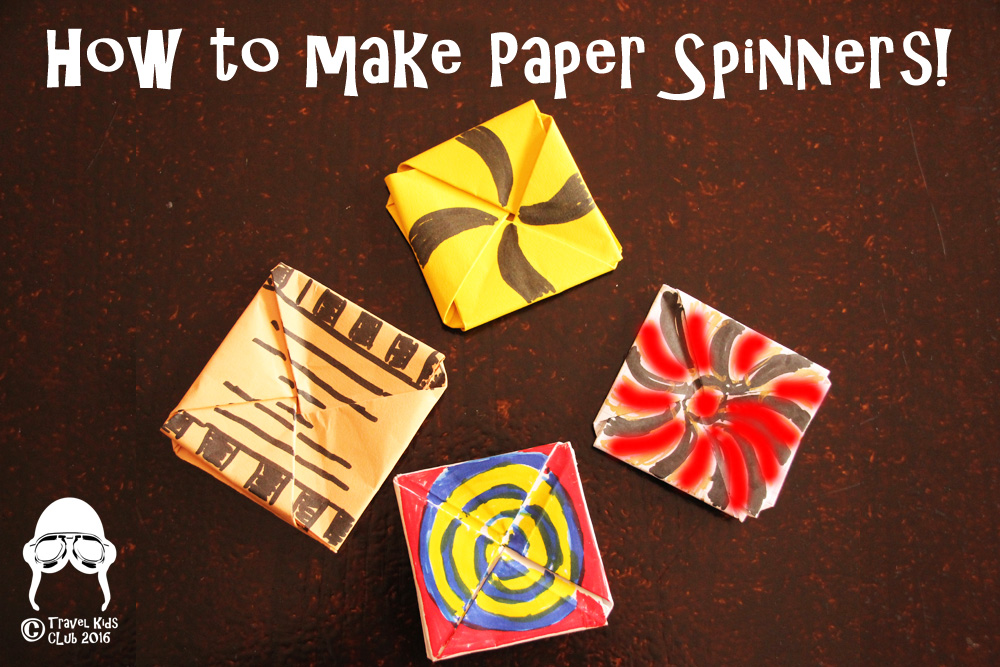 How to make paper spinners